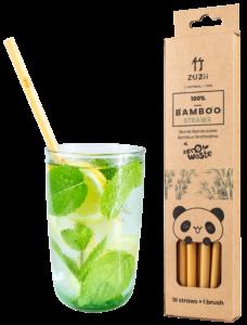 Bambusowa, wielorazowa słomka do picia, 1 sztuka, ZUZii