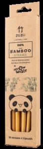 Bambusowa, wielorazowa słomka do picia, 1 sztuka, ZUZii (3)