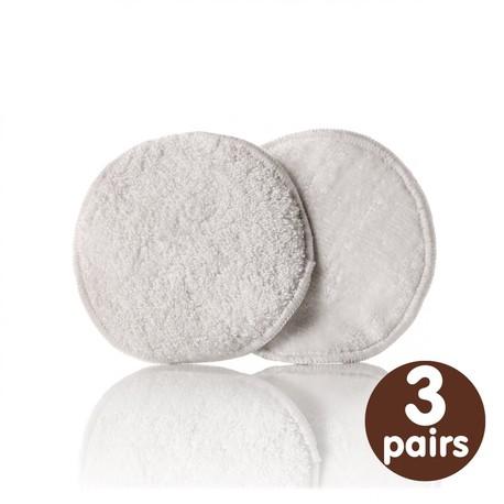 Wielorazowe wkładki laktacyjne z bambusem, białe, 3 pary., XKKO (1)