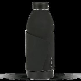 Szklana butelka z zapięciem, 420 ml, Black nude, Closca