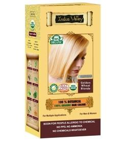 Ziołowa farba do włosów siwych z henną, ZŁOCISTY BLOND, 100% ekologiczna, CERTYFIKOWANA ECOCERT, VEGE, HALAL, 198g, Indus Valley
