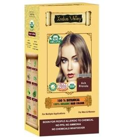 Ziołowa farba do włosów siwych z henną, POPIELATY BLOND, 100% ekologiczna, CERTYFIKOWANA ECOCERT, VEGE, HALAL, 198g, Indus Valley