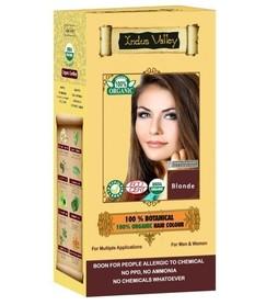 Ziołowa farba do włosów siwych z henną, BLOND, 100% ekologiczna, CERTYFIKOWANA ECOCERT, VEGE, HALAL, 198g, Indus Valley