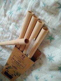 Bambusowe, wielorazowe słomki do picia,