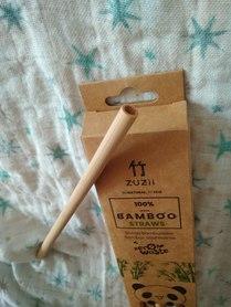 Bambusowa, wielorazowa słomki do picia,