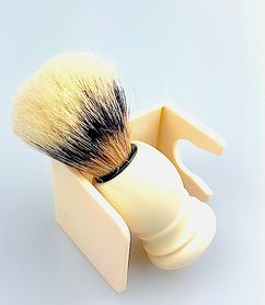 Pędzel do golenia 61P27S - kremowy + stojak