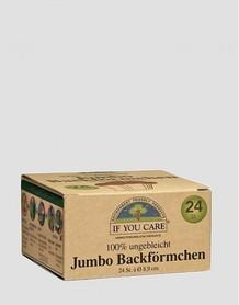 Ekologiczne papierowe foremki na babeczki JUMBO, 24 szt., If You Care