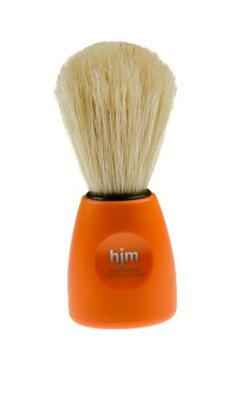 Pędzel do golenia HJM - czysta szczecina, pomarańczowy