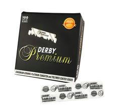Żyletki Derby Premium HALF BLADE do shavette, czarne, 100 szt