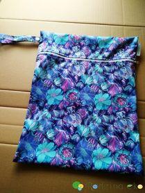 Worek PUL średni, Niebieskie kwiaty