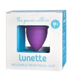 Kubeczek menstruacyjny, model 1, fioletowy + woreczek, Lunette