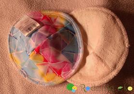 Wkładki laktacyjne wielorazowe, profilowane, Kawałek Tęczy, Little Birds