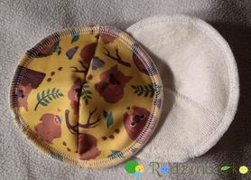 Wkładki laktacyjne wielorazowe, profilowane, Tropem Wombata, Little Birds