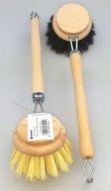 Szczotki do mycia naczyń drewniane - tampico i włosie końskie