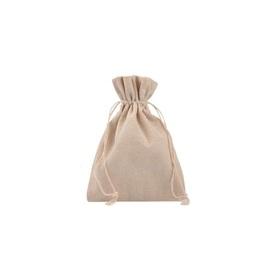 Lniany woreczek do nalewek, na zakupy, na podpaski wielorazowe, 10x14 cm