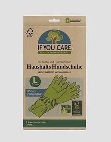 Wielorazowe rękawiczki lateksowe, 1 para, rozmiar L