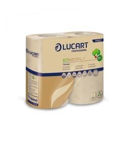 Papier toaletowy, 100% celuloza, 2 warstwy, 4 rolki, 400 listków na rolce, Econatural