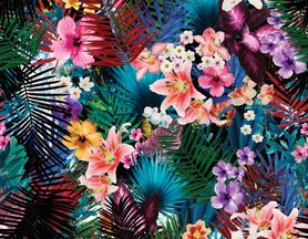 Kieszonka PUL z czarnym coolmaxem, Wzór kwiatowy 3, One Size, Ekomajty