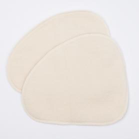 Wkładki laktacyjne z wełny merynosów, 100% czysta, organiczna wełna, OVALNE, wymiary 22 cm x 27 cm, 1 para, LANACare