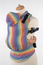 Nosidełko Ergonomiczne z tkaniny skośnokrzyżowej, 100% bawełna, LUNA, dwa rozmiary, LennyLamb