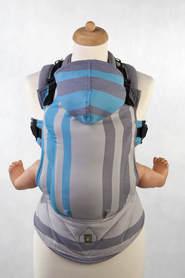 Nosidełko Ergonomiczne z tkaniny skośnokrzyżowej, 100% bawełna, Mglisty Poranek, dwa rozmiary, LennyLamb