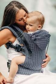Nosidełko Ergonomiczne z tkaniny żakardowej, 100% bawełna, Little Love - Harmonia, dwa rozmiary, LennyLamb