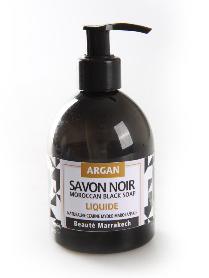 Naturalne czarne mydło w płynie z olejem arganowym, 250 ml