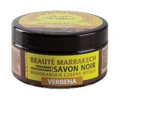 Naturalne czarne mydło z olejem z werbeny, 100 g