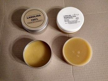 Wizualne różnice pomiędzy różnymi rodzajami lanoliny