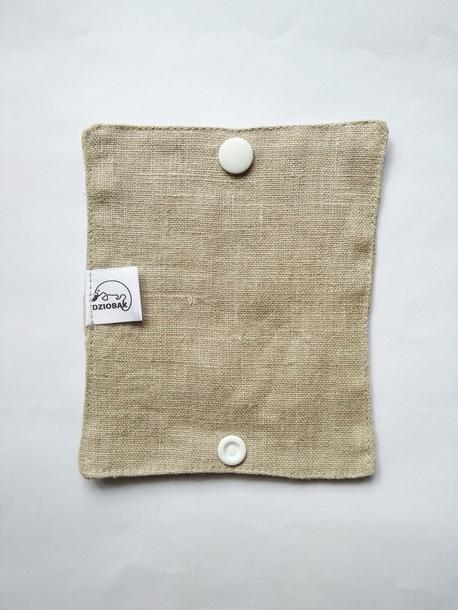 Wielorazowy papier toaletowy/pakiet myjek, Len naturalny, Dziobak (5)