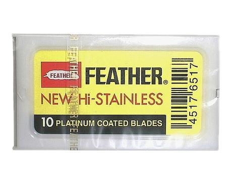 Żyletki Feather New Hi Stainless - żółte, 10 szt. (1)