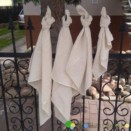 Pielucha tetrowa, 100% bawełna niebielona, 140 g/m2 – 60×60 cm, Dziobak (1)