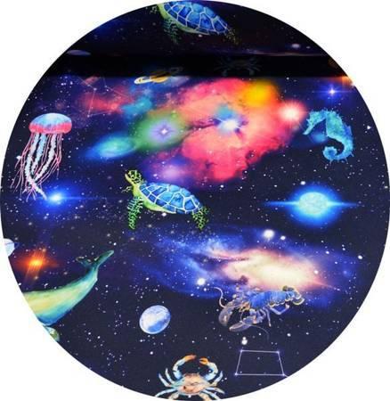 Podpaska wielorazowa MINI, Galaktyka/welur czerwony, KoKoSi (3)