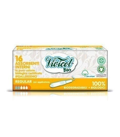 Tampony higieniczne REGULAR z aplikatorem, z organicznej bawełny, 16 sztuk (1)