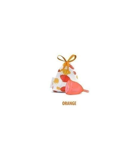 Kubeczek Menstruacyjny, kolor: Orange (pomarańczowy), rozmiar L, Lady Cup (1)