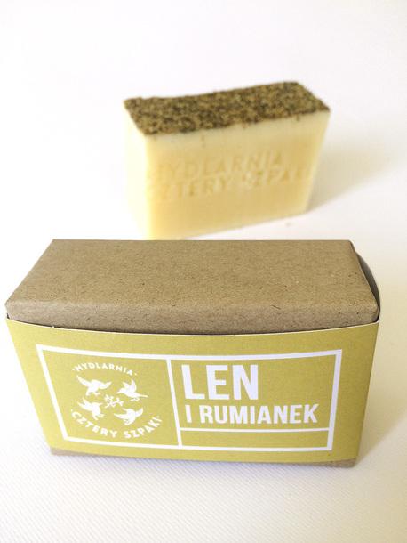 Naturalne mydło - Len i Rumianek, 110 g, Cztery Szpaki (3)