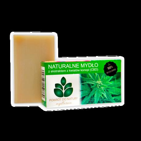 Naturalne mydło z ekstraktem z kwiatów konopi (CBD), 100 g, Powrót do natury (1)