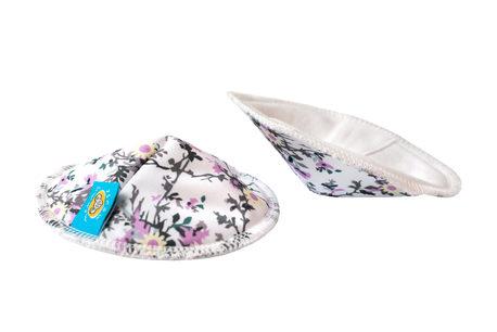 Wkładki laktacyjne, wielorazowe, WHITE FLOWERS, Mommy Mouse (1)