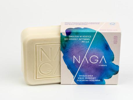 Emulsja do higieny intymnej w kostce, 50 g, NAGA (1)
