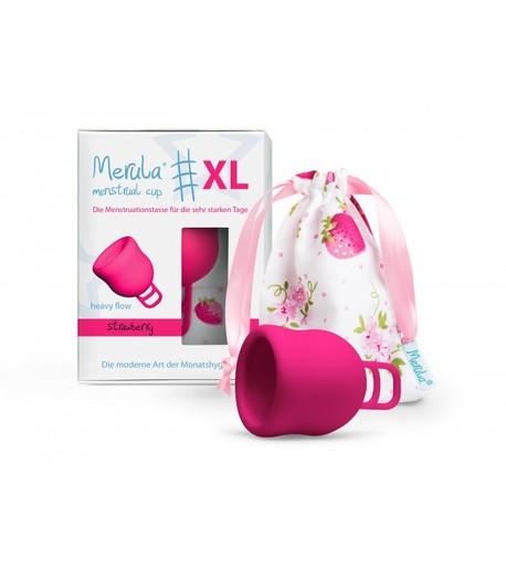 Uniwersalny kubeczek menstruacyjny, XL, bardzo pojemny: 50ml, kolor: różowy, Merula (2)