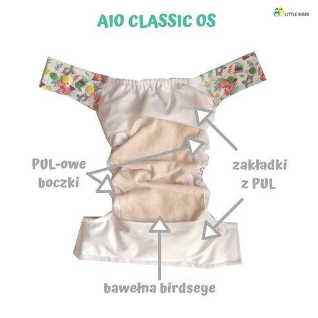 AIO OS Classic birdseye niebielona (6 - 15 kg) - Leśni Przyjaciele, Little Birds (2)