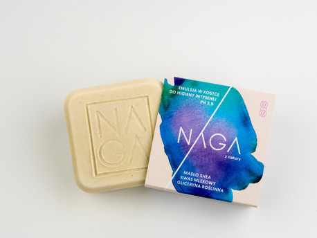 Emulsja do higieny intymnej w kostce, 50 g, NAGA (2)