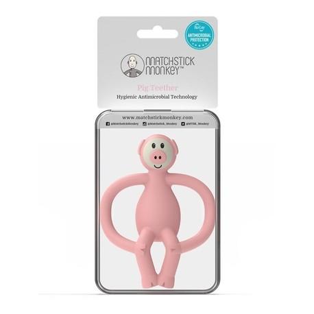 Gryzak Masujący ze Szczoteczką, Matchstick Monkey Animals Piggy (4)