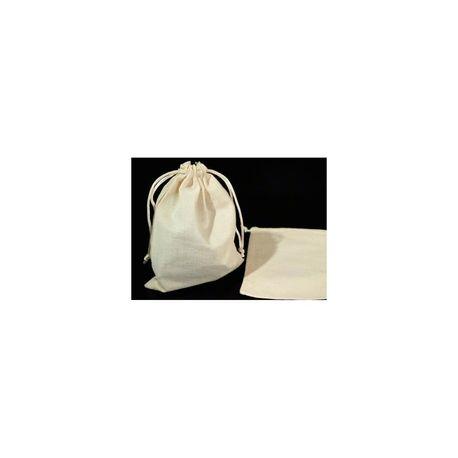 Lniany woreczek do nalewek, na zakupy, na podpaski wielorazowe, 10x14 cm (2)