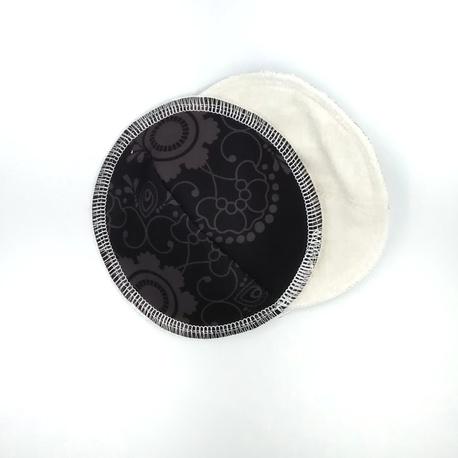 Wkładki laktacyjne wielorazowe, profilowane, Koronka czarna, Little Birds (1)