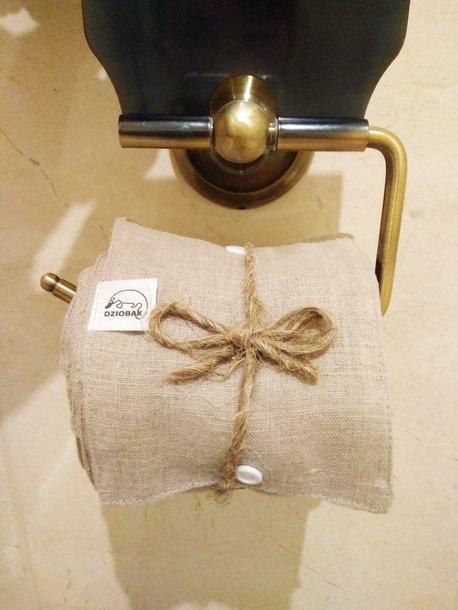 Wielorazowy papier toaletowy/pakiet myjek, Len naturalny, Dziobak (2)