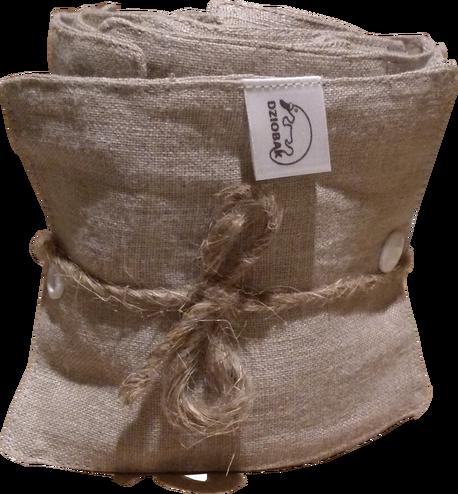 Wielorazowy papier toaletowy/pakiet myjek, Len naturalny, Dziobak (1)