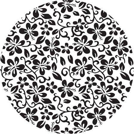 Podpaska wielorazowa MIDI, Hibiskus czarny/Coolmax czarny, KoKoSi (3)