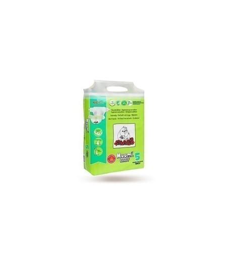Pieluszki ekologiczne, jednorazowe (5) MAXI+, 10-16 kg, 22 szt. EKO, MUUMI (1)