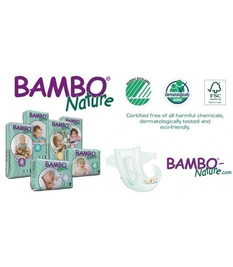 Ekologiczne Pieluszki Jednorazowe (1) Bambo Nature Newborn (2-4 kg) Opak. 28 szt. (2)